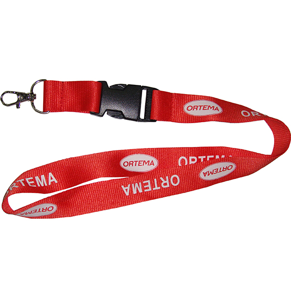 2.0CM width printed polyester lanyard with breakaw