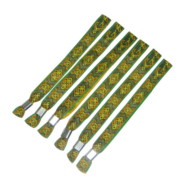 good quality woven wristband for festival event wi